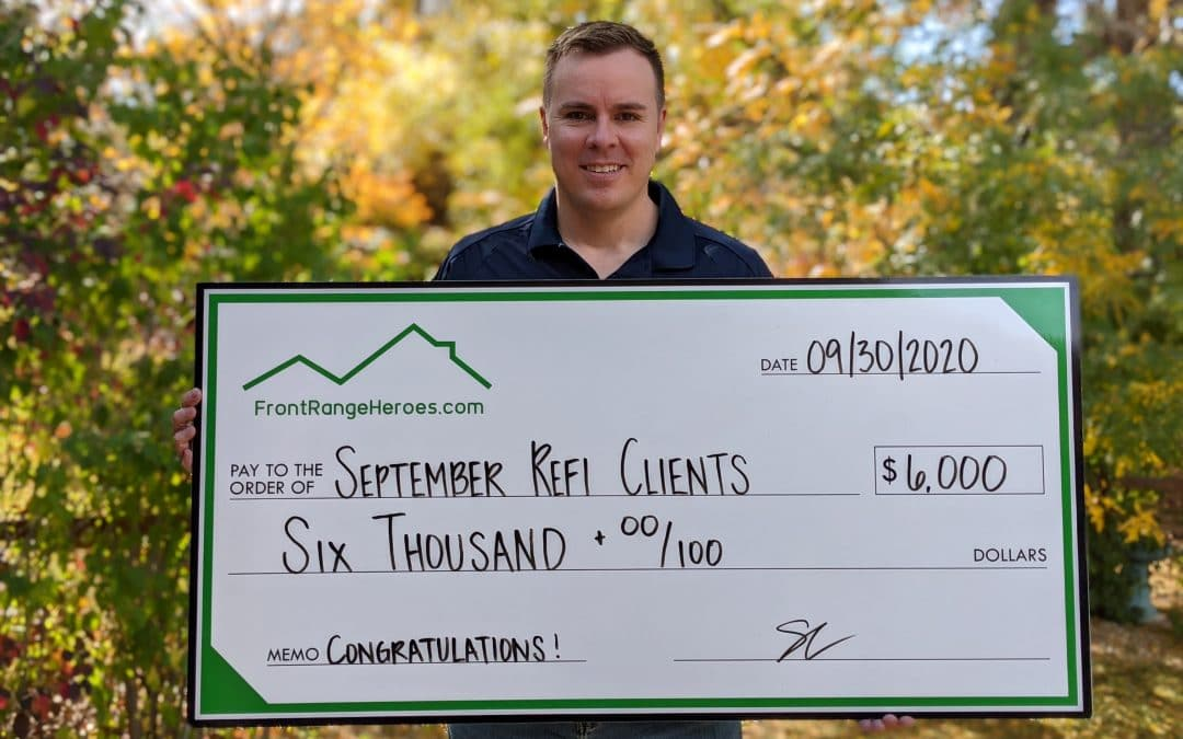 More savings for heroes who refinanced in September!