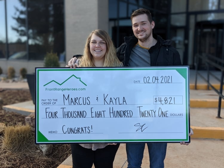 Welcome to Denver, Marcus and Kayla!